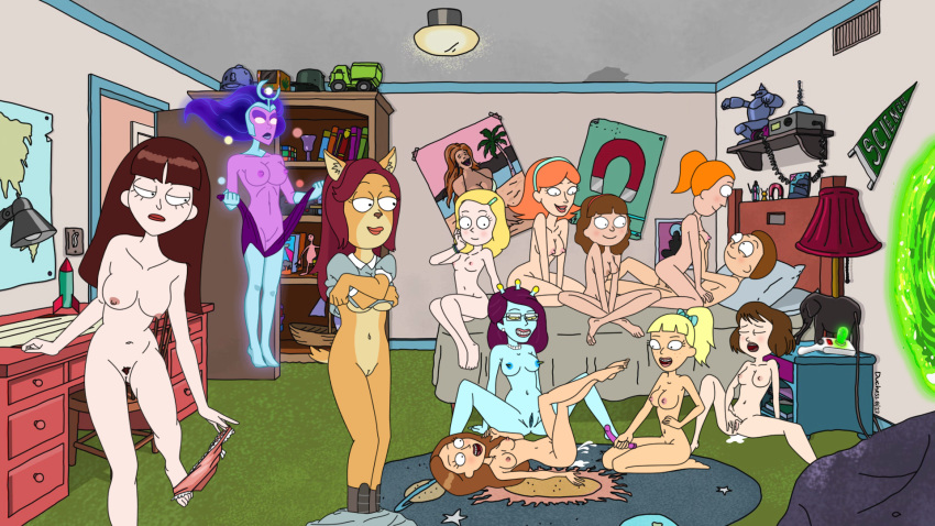 nude morty and rick jessica Fritz the cat bathtub orgy